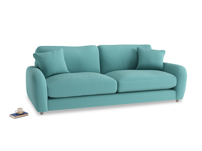 Large Easy Squeeze Sofa in Peacock brushed cotton