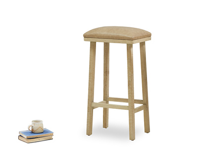 Tall Bumpking leather kitchen bar stool