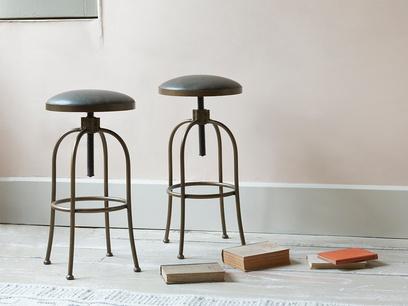 Breakfast adjustable leather top kitchen bar stool
