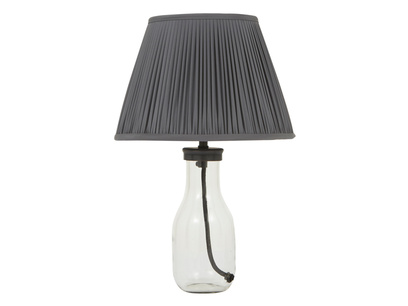 Milk Bottle Table Lamp with Graphite shade