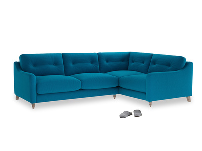 Large Right Hand Slim Jim Corner Sofa in Bermuda Brushed Cotton