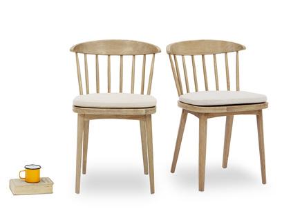 Drummer oak kitchen chairs front