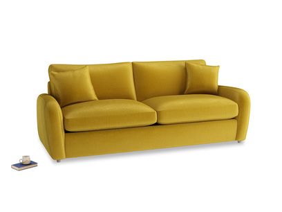 Large Easy Squeeze Sofa Bed in Burnt yellow vintage velvet