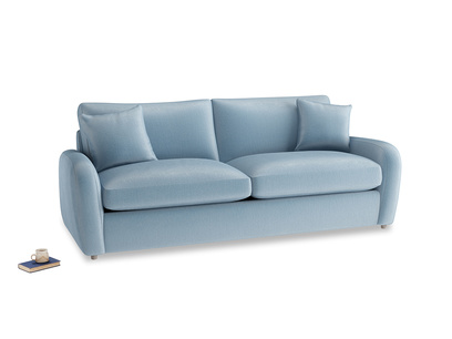 Large Easy Squeeze Sofa Bed in Chalky blue vintage velvet