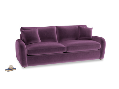 Large Easy Squeeze Sofa Bed in Grape clever velvet
