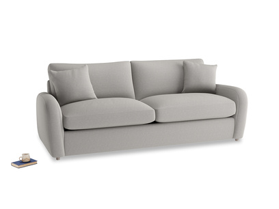 Large Easy Squeeze Sofa Bed in Wolf brushed cotton
