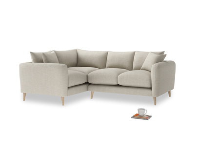 Large Left Hand Squishmeister Corner Sofa in Thatch house fabric