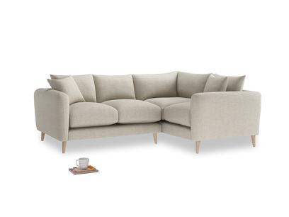 Large Right Hand Squishmeister Corner Sofa in Thatch house fabric