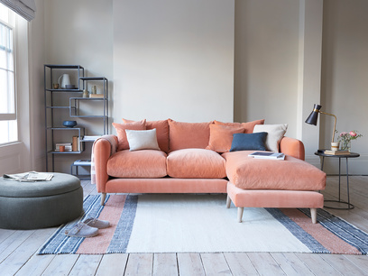 Squishmeister deep chaise sofa
