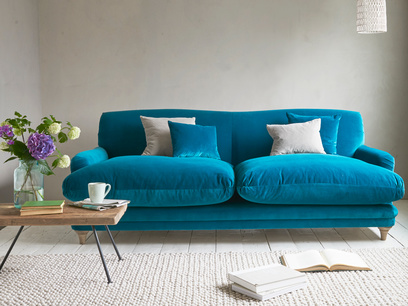 Pudding squish blue sofa