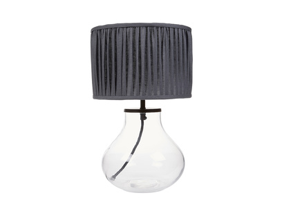 Bessy Table Lamp with Graphite pleated shade