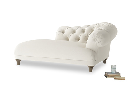 Right Hand Fats Chaise Longue in Chalky White Clever Softie