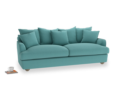 Large Smooch Sofa in Peacock brushed cotton