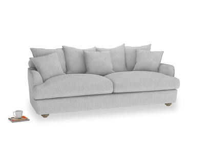 Large Smooch Sofa in Pebble vintage linen