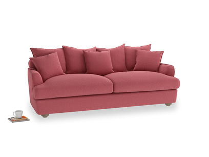Large Smooch Sofa in Raspberry brushed cotton