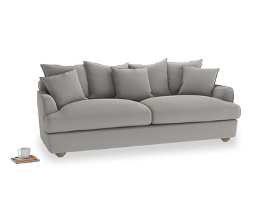 Large Smooch Sofa in Wolf brushed cotton