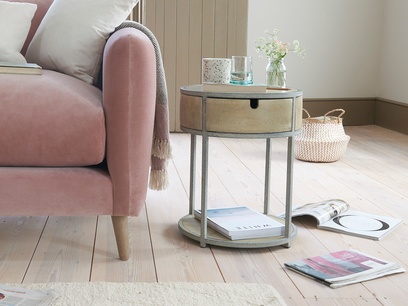 Little Tim Round Side Table with Drawer