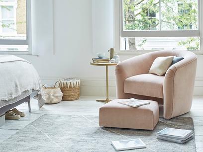 Tootsie Tub Armchair and Footstool