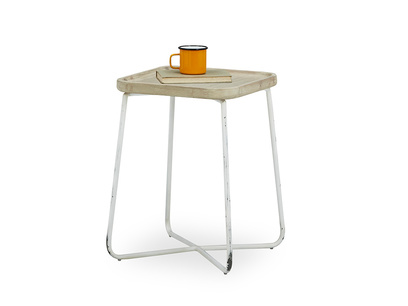 Cuppa metal and wood side table