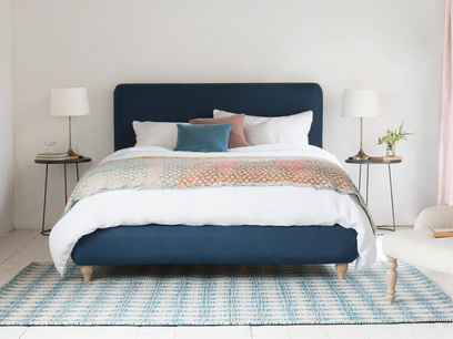 Ruffle modern bed