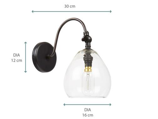 TEARDROP WALL LAMP DIMS