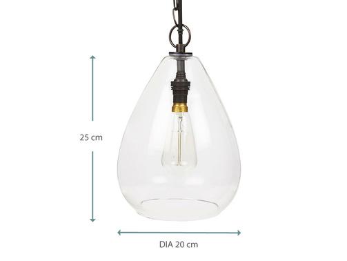 Raindrop small glass pendant light DIMA