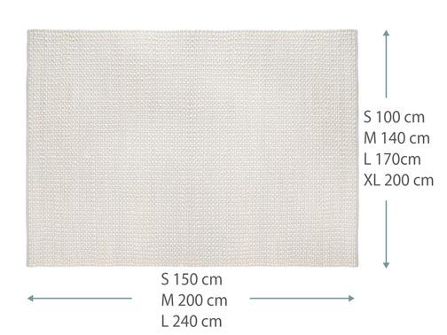375114 bobble rug dims in grey