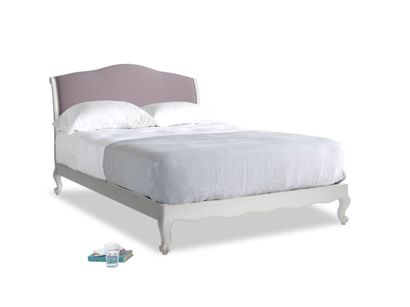 Kingsize Coco Bed in Scuffed Grey in Lavender brushed cotton