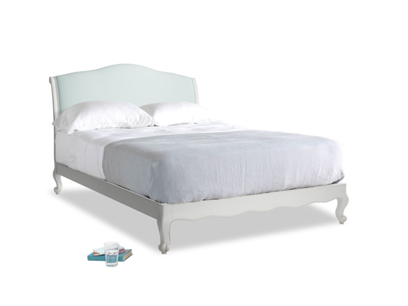 Kingsize Coco Bed in Scuffed Grey in Gull's Egg Brushed Cotton