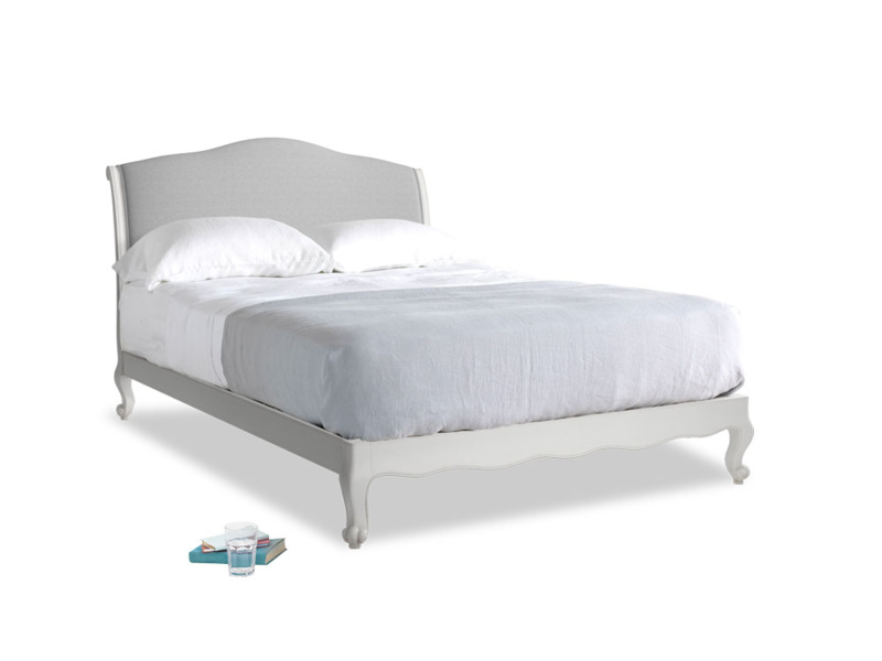 Kingsize Coco Bed in Scuffed Grey in Magnesium washed cotton linen