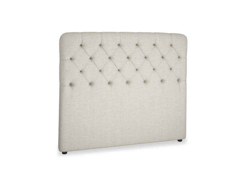 Double Billow Headboard in Thatch house fabric