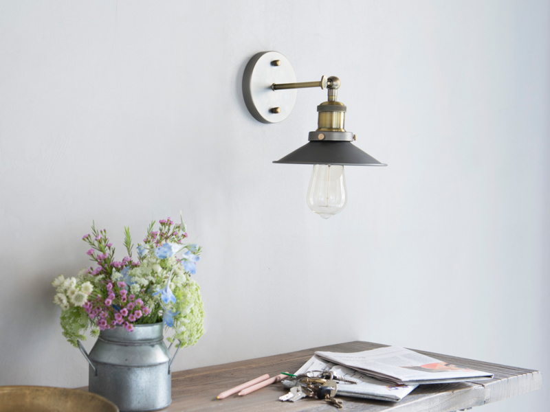 Toby wall sconce is a vintage style wall light
