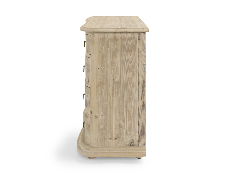 Reclaimed wood French style Aurelie bedroom chest of drawers