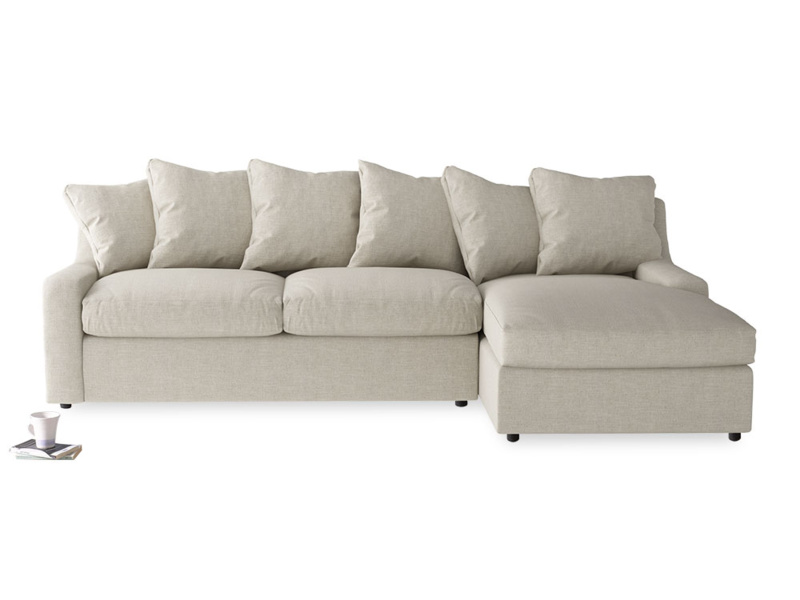 British made Cloud Chaise corner sofa, extra comfy back cushions and deep seats