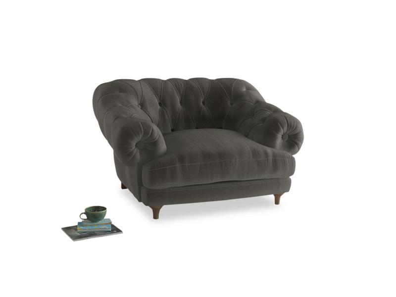 Bagsie Love Seat in Slate clever velvet