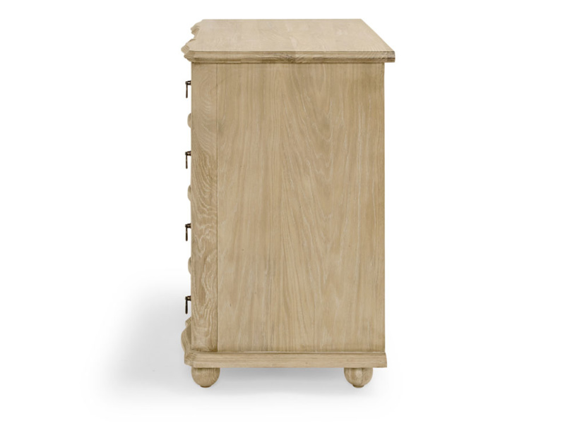 Otterley oak bedroom chest of drawers in a french vintage style