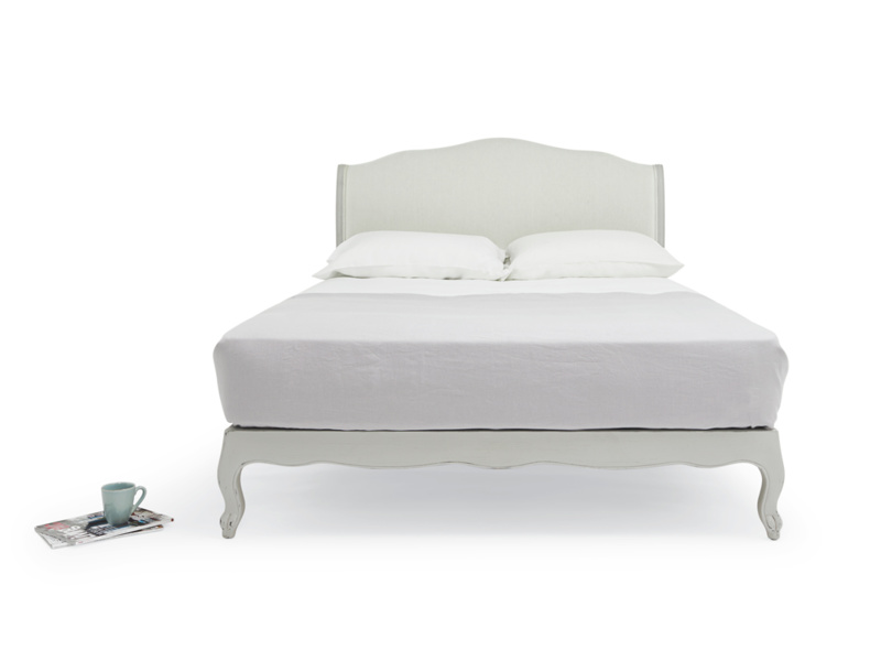 Coco French style bed in Scuffed Grey paint finish handmade by skilled craftsmen