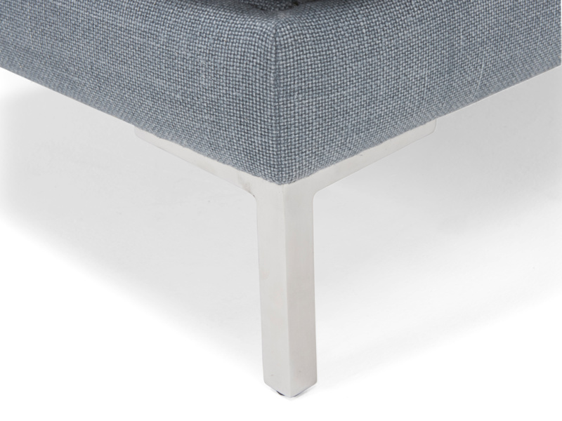 Padded handmade upholstered Blade footstool