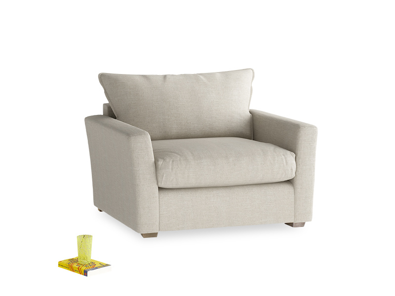 Stylish Pavilion contemporary love seat and snuggler