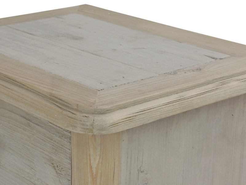 Polder grey painted wooden bedside table in a vintage style