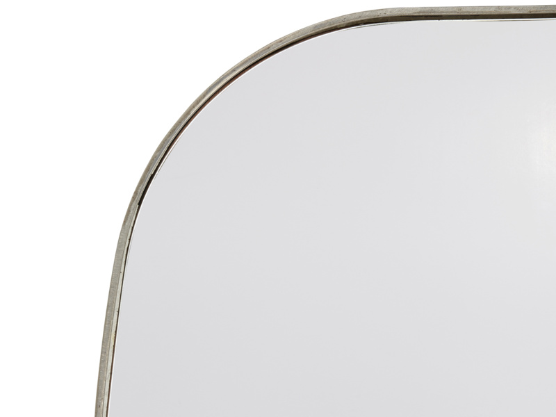 Square industrial style large Albie wall mirror