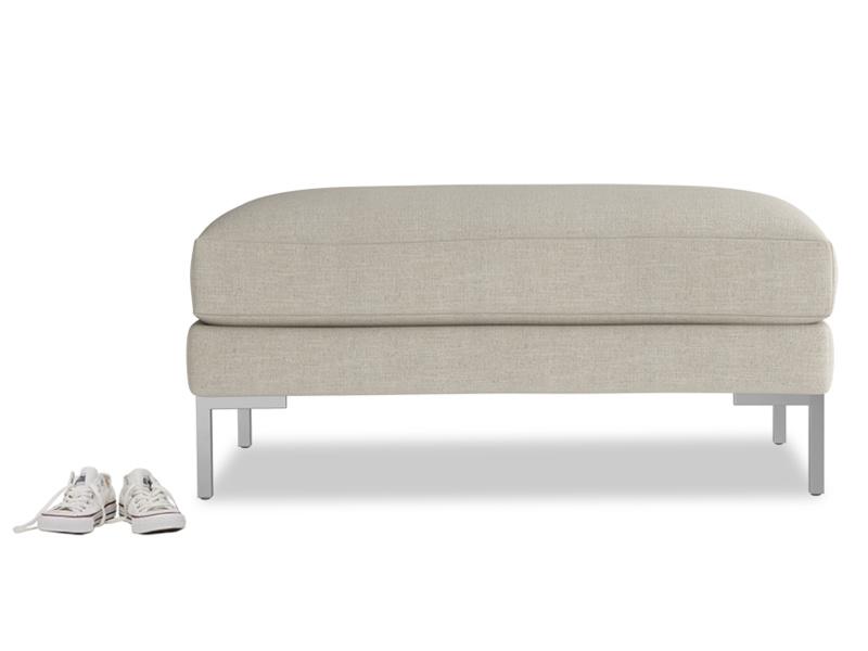 Blade padded upholstered handmade footstool