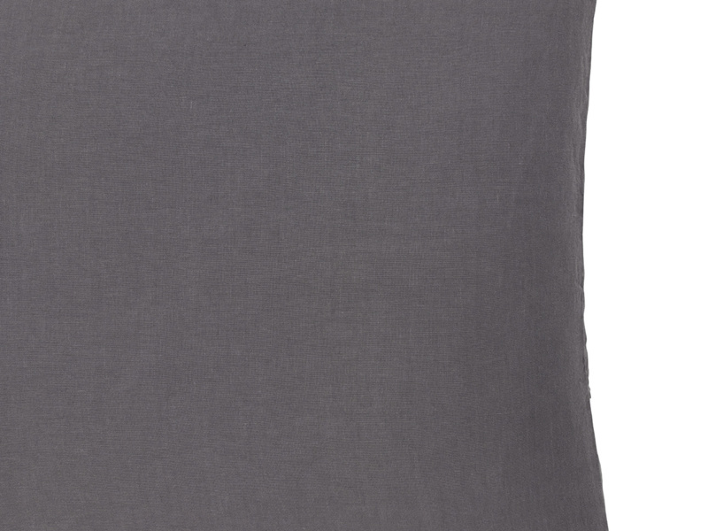 Feather filled linen Scrunch large cushion