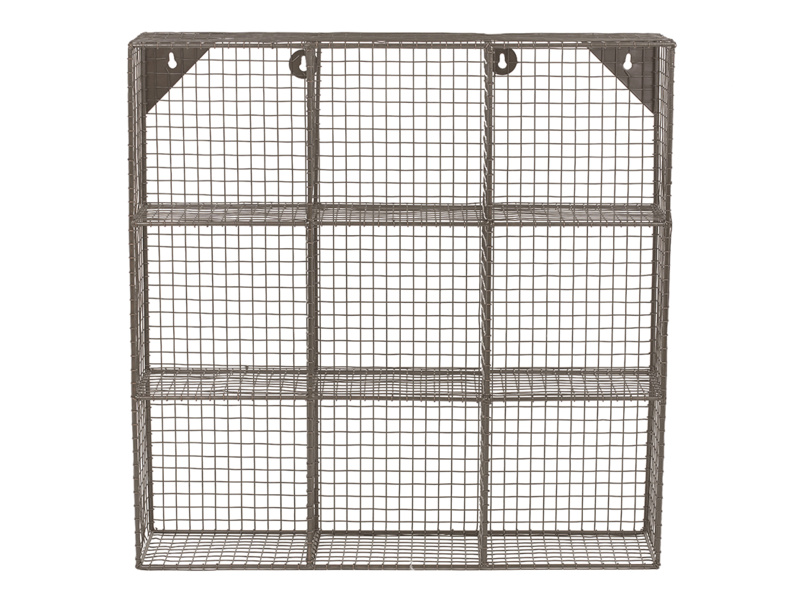 Strong wall hanging industrial style wire shelves