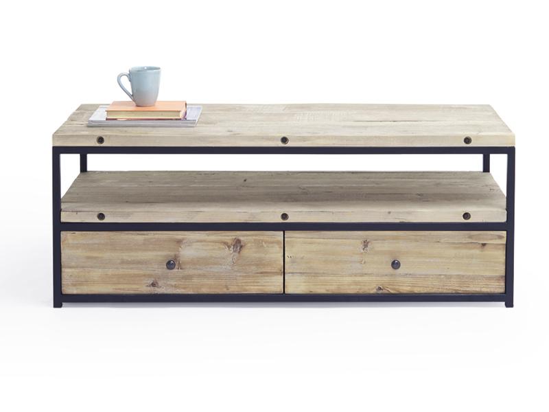 Hercule industrial reclaimed wooden TV stand
