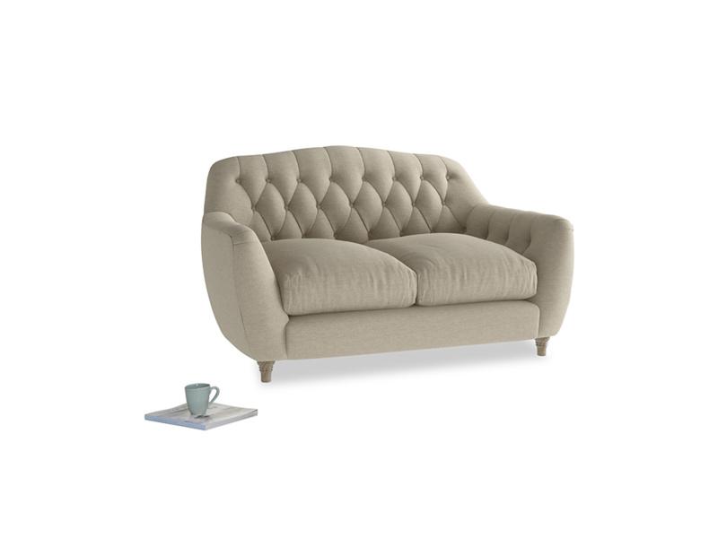 Small Butterbump Sofa in Jute vintage linen