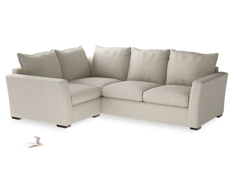 Large Left Hand Pavilion Corner Sofa in Thatch House Fabric