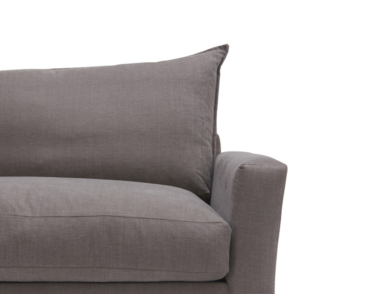 Contemporary modern style and British made luxury Pavilion sofa with feather-filled back cushions
