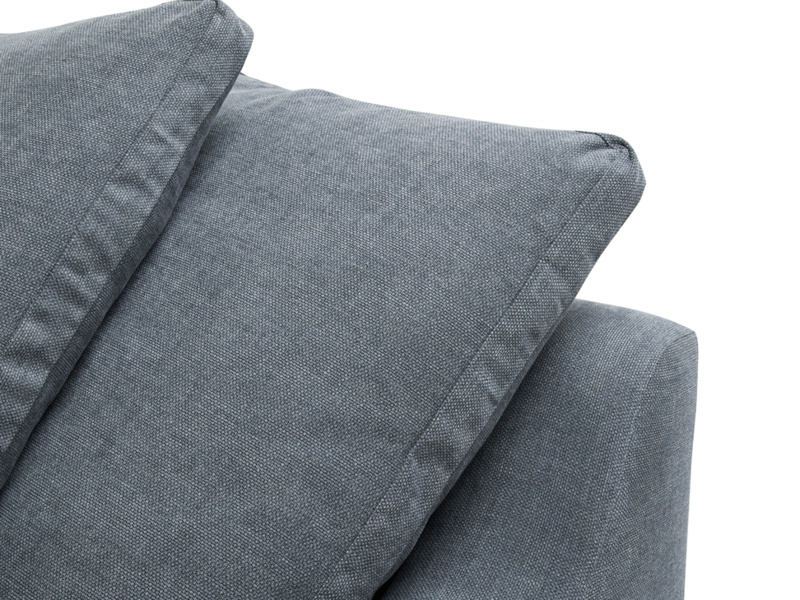 Box edge back cushions on extra comfortable British made Cloud corner sofa bed