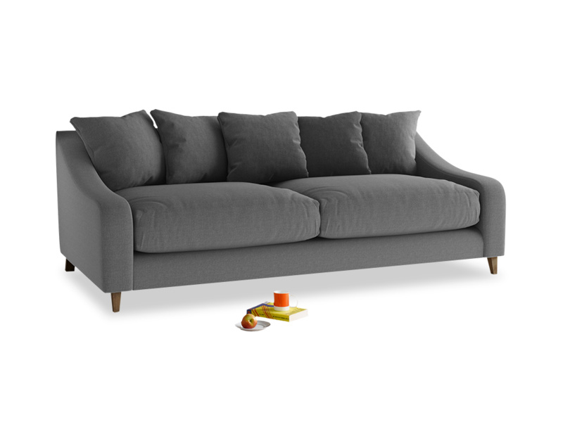 Large Oscar Sofa in Ash Washed Cotton Linen